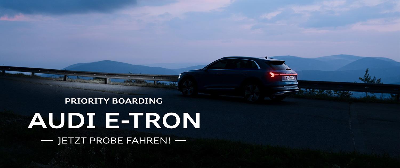 Audi e-tron Priority Boarding Titel 01