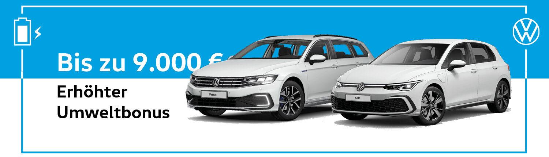 Erhöhter Umweltbonus Volkswagen Header Neu
