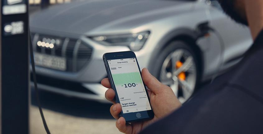 Audi e-tron Laden